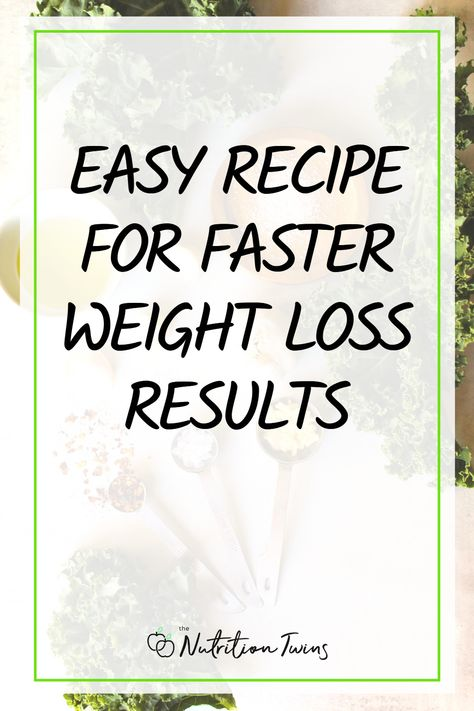 Easy Recipe for Faster Weight Loss Results. This simple batch cooking recipe for green vegetables makes meal prep easy. This recipe makes weight loss easier - fill up on the low calorie foods -- the delicious healthy greens and you'll have less room for the heavy stuff. These greens are the perfect flat belly food since they're low in calories but filling. #mealprep #flatbelly #healthyrecipe For MORE RECIPES, fitness  nutrition tips please SIGN UP for our FREE NEWSLETTER www.NutritionTwins.com