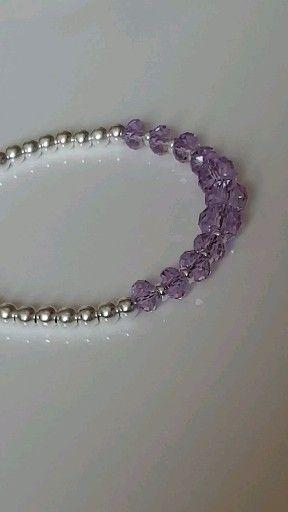 Mavey Shimmer Bracelet:Violet