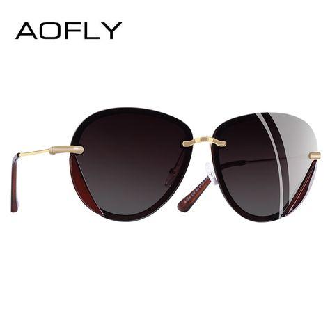 Fashion Women Design Polarized Classic Sunglasses Aofly Brand Retro nv80mNw