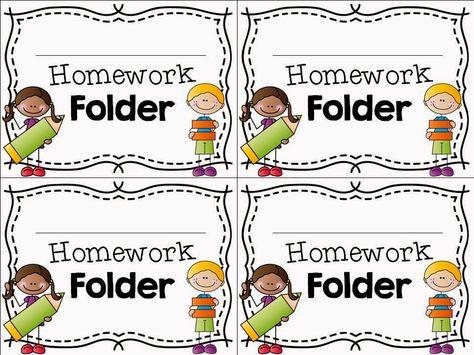 FREEBIE Homework Folder label