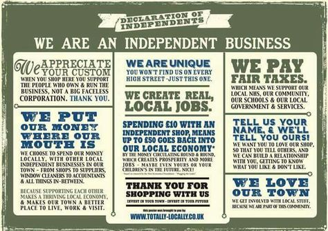 Happy Independents Day....shop local x