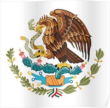 Mexico Mexican Eagle Symbol Mexican Flag Flag Of Mexico Bandera De Mexico Pure Simple Poster Mexican Eagle Mexican Flag Eagle Mexican Flags
