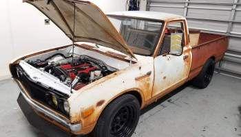 Datsun 620 With A Twin Turbo 1uz Engine Swap Depot Datsun Twin Turbo Turbo