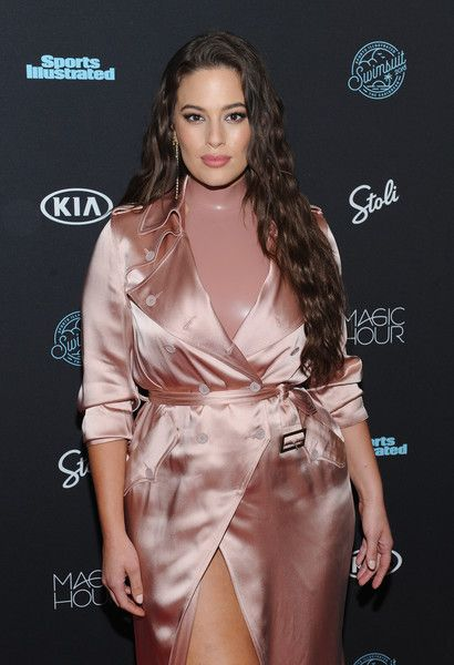 Model Ashley Graham attends a Sports Illustrated Swimsuit 2018 launch event.