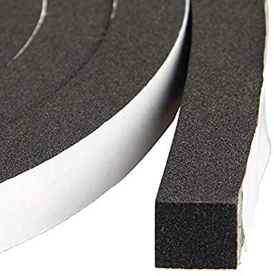 Window Insulation Weather Stripping 1 2 Inch Wide X 1 2 Inch Thick Closed Cell Foam Tape Adhesive Rubber Seal Weather Stripping Sealing Tape Window Insulation