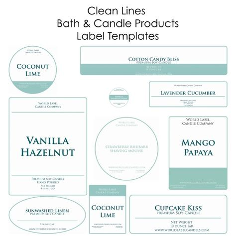 Free Soap Labels & Candle Labels Biz Starter Kit, but you can use for lots of other things -:) Labels are in printable PDF templates. Use as a business starter kit.