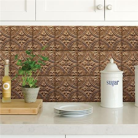 Bhf2773 Copper Tin Tile Peel And Stick Backsplash By Brewster Tin Tiles Peel N Stick Backsplash Peel And Stick Wallpaper