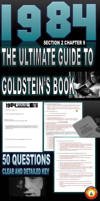 1984 Goldstein S Book Ultimate Guide 50 Questions With Key Digital Enabled Teaching Literary Analysis Ap Language And Composition Literature Lessons