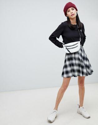 Monki checked pleated mini skirt   Style Wishlist   Pleated