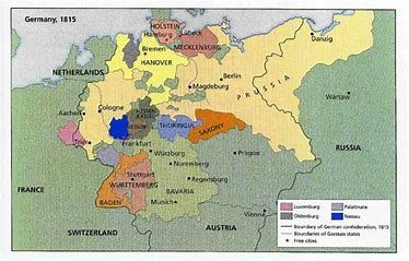 Image Result For World Map Of Prussia 1850 German Confederation