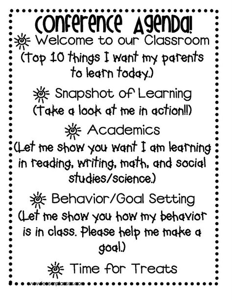 Lesson Plan SOS: Think Outside the Box: Student Led Conferences