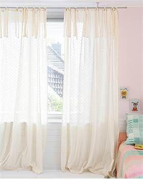 Vorhang Elfenbein Mit Rosa Punktchen In 2020 Rosa Vorhange Schiebegardinen Weiss Gepunktete Vorhange