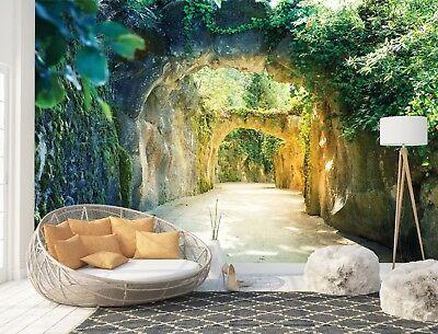 Tapete Fototapete Wandbild Fotomural Bildtapete 3d Garten Tunnel Natur 11679wm Fototapete Wandtapete Bildtapete