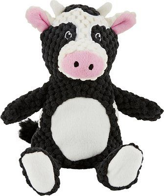 Frisco Textured Plush Squeaking Cow Dog Toy Chewy Com Toy