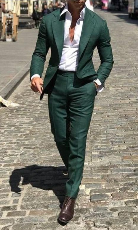 Men/'s Formal Prom Two Button Wedding Groom Slim Fit Suit