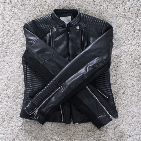 aa9f868d Zara TRF Faux Leather Biker Jacket super soft faux leather, like new!!  large size could fit small and medium oversized ~ Zara Jackets & Coats  Utility ...