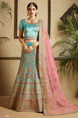 Indian Silk Printed Wedding Wear Lehenga Choli Chunri Indian Designer Lengha