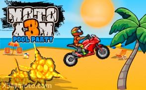 Moto X3m 5 Pool Party Pool Party Racing Games Moto