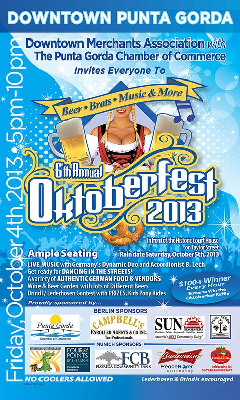 Oktoberfest in Punta Gorda, Friday, October 4th, 2013