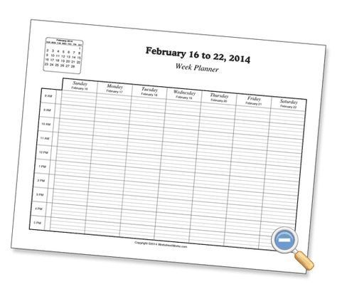 Hourly Planners - WorksheetWorks.com | Good Idea | Hourly ...