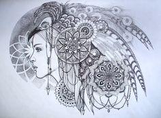DeviantArt: More Like Hand drawn sacred geometry mandala in frame by Splund-Art