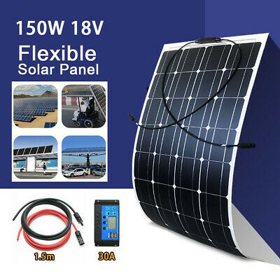 Rich Solar Solar Panel Adjustable Side Of Pole Mount Up To One 200w Module 54 99 Picclick In 2020 Solar Panels Flexible Solar Panels Solar