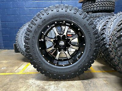 18x10 Moto Metal Mo970 Wheels Rim 33 At Duratrac Tires 5x5 Jeep