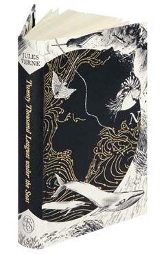 Twenty Thousand Leagues Under The Seas Folio Society Edition Leagues Under The Sea Book Cover Design Beautiful Book Covers