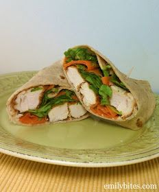 Emily Bites - Weight Watchers Friendly Recipes: Buffalo Chicken Wraps