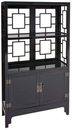 Pier 1 Imports Asian Motif Black Storage Cabinet Storage Cabinet Home Office Design Living Room Grey