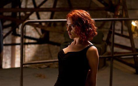 HD wallpaper: women's black sleeveless top, Scarlett Johansson, The Avengers