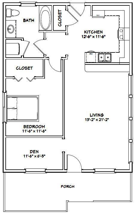 Cool 26X34 House 26X34H1B 884 Sq Ft Excellent Floor Download Free Architecture Designs Scobabritishbridgeorg
