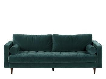 Vento 3 Sitzer Sofa Manhattangrau Made Com In 2020 Fluwelen Sofa Retro Bank Bank Design
