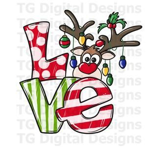 Love PNG Christmas Sublimation File Christmas Gnome PNG Scandinavian Gnome PNG Files For Sublimation Digital Download