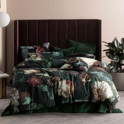 Temple And Webster Dark Floral Duvet Cover Duvet Cover Sets Home Duvet Covers