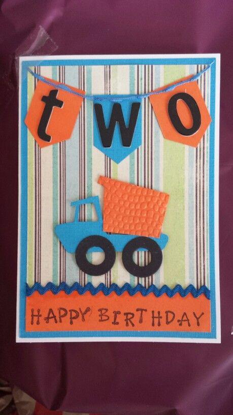Birthday Card For 2 Year Old Boy Birthday Cards Pinterest