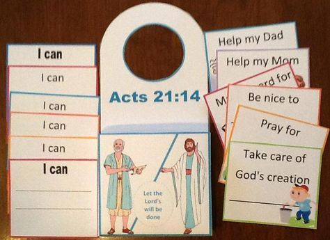 Let the Lord's will be done... printables