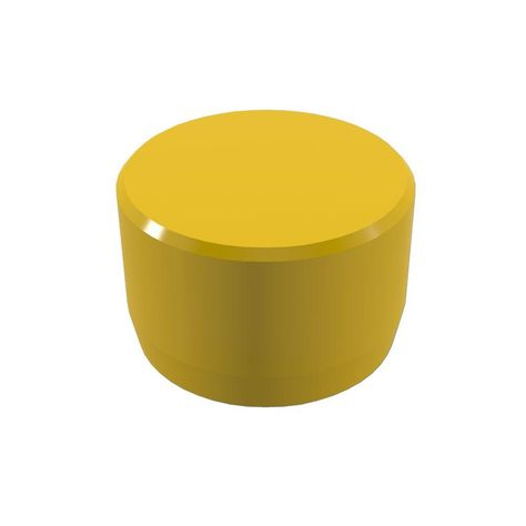 1 1 4 In Furniture Grade Pvc External Flat End Cap In Yellow 10 Pack 10 Things Pvc
