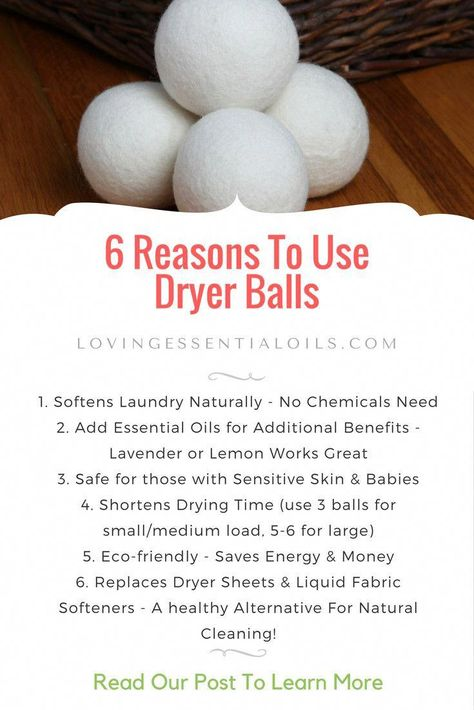 6 Reasons To Use Dryer Balls Perfect Match With Essential Oiis