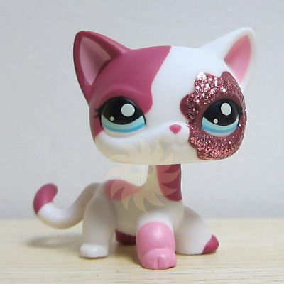 Littlest Pet Shop Collection Lps White Pink Standing Cat Sparkle Glitter K1 Pet Shop Littlest Pet Shop Lps Toys