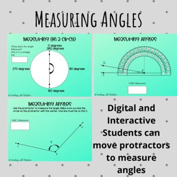 Digital Lesson On Measuring Angles Using A Protractor What Is Included Lessons On How To Use The Protractor Lesso Protractors Digital Lessons Teachers Teaching Common core math worksheets protractor