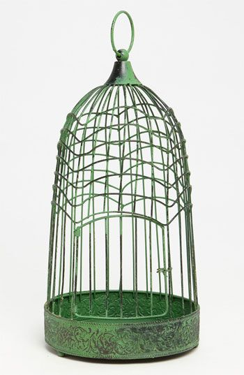 green bird cage - an unusual, unique one