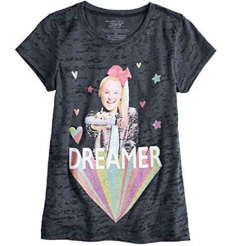 Nickelodeon JoJo Siwa Multi-coloured Unicorns Bows /& Sequins T-Shirt Top Tee