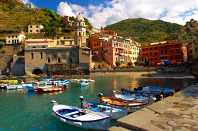 Vernazza, the 4th seaside village at Cinque Terre, Italy.   We hiked from the 1st to the 4th but didn't make it to the last one, Monterosso.