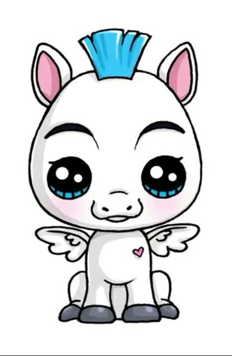 Pegasus Cute Kawaii Drawings Kawaii Drawings Kawaii Girl Drawings