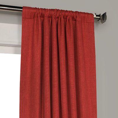 Clem Solid Room Darkening Thermal Rod Pocket Single Curtain Panel