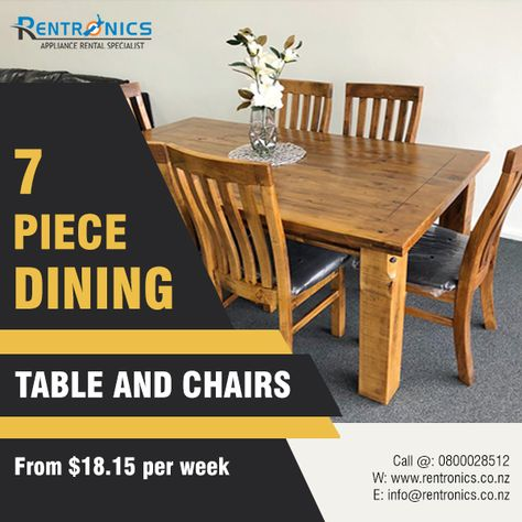 Have Space For Everyone At Meals By Renting 7 Piece Dining Table
