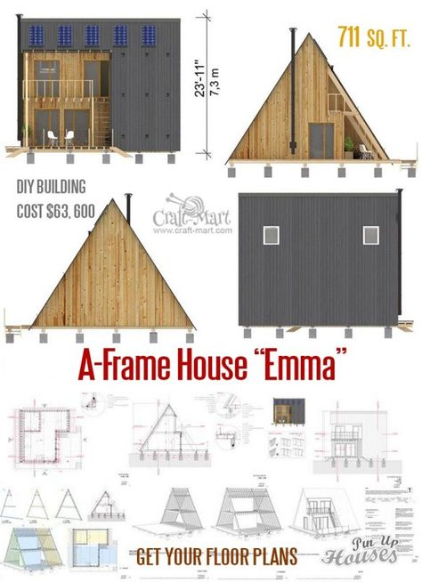 Two Story Flat Roof House Plans In 2020 Small House Plans A Frame House House Plans