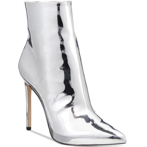 1fea9dde817 Aldo Women's Loreni Metallic Stiletto Dress Booties ($120) ❤ liked on  Polyvore featuring shoes, boots, ankle booties, heel's, silver, stiletto  boots, ...