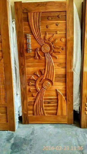 Teak Wood Modern Designer Doors Manufacturer In Jamnagar Gujarat India Id 4495861 Front Door Design Wood Door Design Wood Wooden Front Door Design